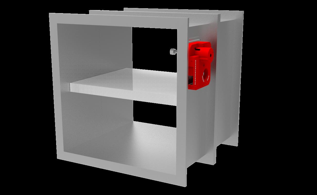 YD300-EU Tek Kanatlı Sigortalı Yangın Damperi (CE, EN 1366-2 Sertifikalı)